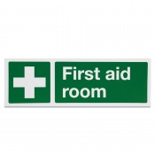 'First Aid Room White Cross' Safety Sign