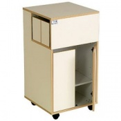 Bristol Maid Laminate Bedside Cabinet with Front Side Doors