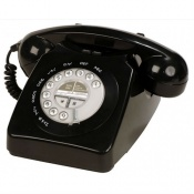 Geemarc Black Mayfair Retro Corded Telephone