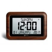 Geemarc Viso10 Wood Effect Day/Date Clear Display Clock