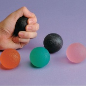 Set of 5 Gel Ball Hand Exercisers (Extra Soft - Extra Firm)