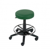 Sunflower Medical Green Gas-Lift Stool with Foot Ring