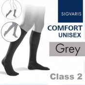 Sigvaris Unisex Comfort Calf Class 2 (RAL) Grey Compression Stockings