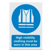 'High Visibility Clothing Must Be Worn' Safety Sign