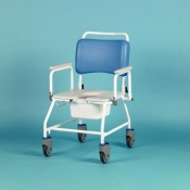 Homecraft Atlantic Bariatric Commode Shower Chair without Footrests (560mm Width Between Armrests)