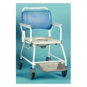 Homecraft Atlantic Commode Shower Chair with Footrests and Disposable Pan Rack