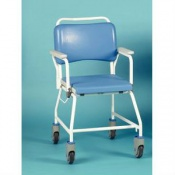 Homecraft Atlantic Commode Shower Chair with Disposable Pan Rack and without Footrests