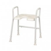 Homecraft Days White Line Shower Stool with Arms