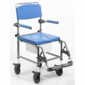 Homecraft Deluxe Attendant Height-Adjustable Shower Commode Chair
