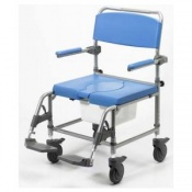 Homecraft Deluxe Attendant Heavy-Duty Shower Commode Chair (560mm Seat Width)
