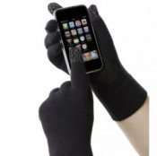 Touchscreen Black Men's Isotoner Smartouch Gloves