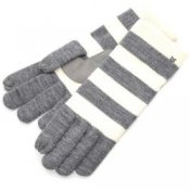 Touchscreen Gloves Isotoner Smartouch - Ladies Grey & Ivory