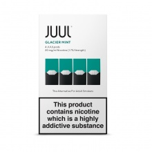 JUUL Glacier Mint JUUL Pods (Pack of 4 Refill Cartridges)