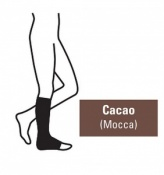 Juzo Attractive Below Knee 23-32mmHg Cacao Compression Stocking with Open Toe
