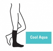 Juzo Attractive Below Knee 18-21mmHg Cool Aqua Compression Stocking