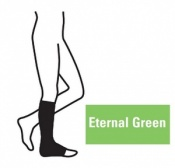 Juzo Attractive Below Knee 18-21mmHg Eternal Green Compression Stocking with Open Toe