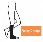 Juzo Attractive Below Knee 18-21mmHg Fancy Orange Compression Stocking with Open Toe