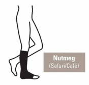 Juzo Attractive Below Knee 23-32mmHg Nutmeg Compression Stocking with Open Toe