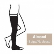 Juzo Attractive Thigh 23-32mmHg Almond Compression Stocking with Open Toe