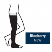 Juzo Attractive Thigh 23-32mmHg Blueberry Compression Stocking with Open Toe