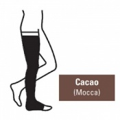 Juzo Attractive Thigh 23-32mmHg Cacao Compression Stocking with Open Toe