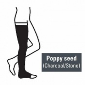 Juzo Attractive Thigh 23-32mmHg Poppy Seed Compression Stocking with Open Toe