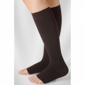 Juzo Dynamic Class 3 Black Pepper Knee High Compression Stockings with Thin Silicone Border