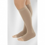 Juzo Dynamic Class 1 Almond Knee High Compression Stockings with Open Toe