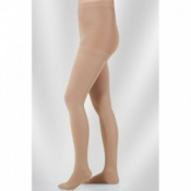 Juzo Dynamic Class 1 Sesame Compression Tights with Open Toe