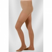 Juzo Hostess Class 2 Sesame Compression Tights with Open Toe