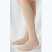 Juzo Soft Class 1 Nutmeg Calf Compression Stockings with Silicone Border