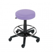Sunflower Medical Lilac Gas-Lift Stool with Foot Ring