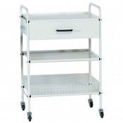 Medi-Plinth Dressing Trolley with 2 Shelves and Drawer