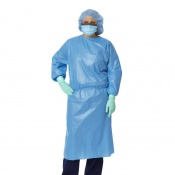 Medline Closed Back Coated Polypropylene Isolation Gown (Pack of 50)