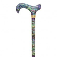 National Gallery Monet's Water-Lily Pond Derby Adjustable Walking Stick
