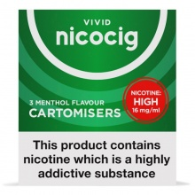 Nicocig Electronic Cigarette Menthol Refill Cartridges Saver Pack - 40 Pack