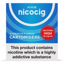 Nicocig Electronic Cigarette High Strength Refill Cartridges