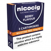 Nicocig Refill Cartridges Medium Strength Berry Cartomisers