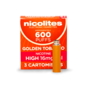 Nicolites Refill Cartridges High Strength Golden Tobacco Cartomisers