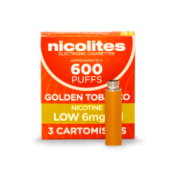 Nicolites Refill Cartridges Low Strength Golden Tobacco Cartomisers