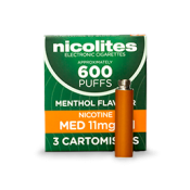Nicolites Refill Cartridges Medium Strength Menthol Cartomisers