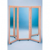 Oak Framed Glass Therapy Mirrors