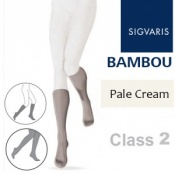 Sigvaris Bambou for Women Calf Class 2 Pale Cream Compression Stockings