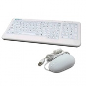 Purekeys Infection Control Keyboard and Mouse Combo Pack