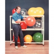 Mobile PVC Exercise and Therapy Ball Rack