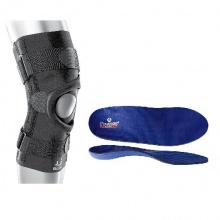 BioSkin Q Brace Knee Support and Orthotics Patellar Maltracking Correction Pack