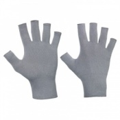 Raynaud's Disease Deluxe Fingerless Silver Gloves