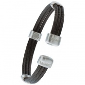 Sabona Trio Cable Black and Silver Magnetic Bracelet