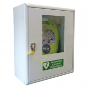 Safety First Aid AED Defibrillator Thumb Lock Cabinet