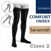 Sigvaris Unisex Comfort Thigh Class 2 (RAL) Savannah Knobbed Grip Top Compression Stockings